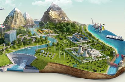 3д визуализация ландшафта