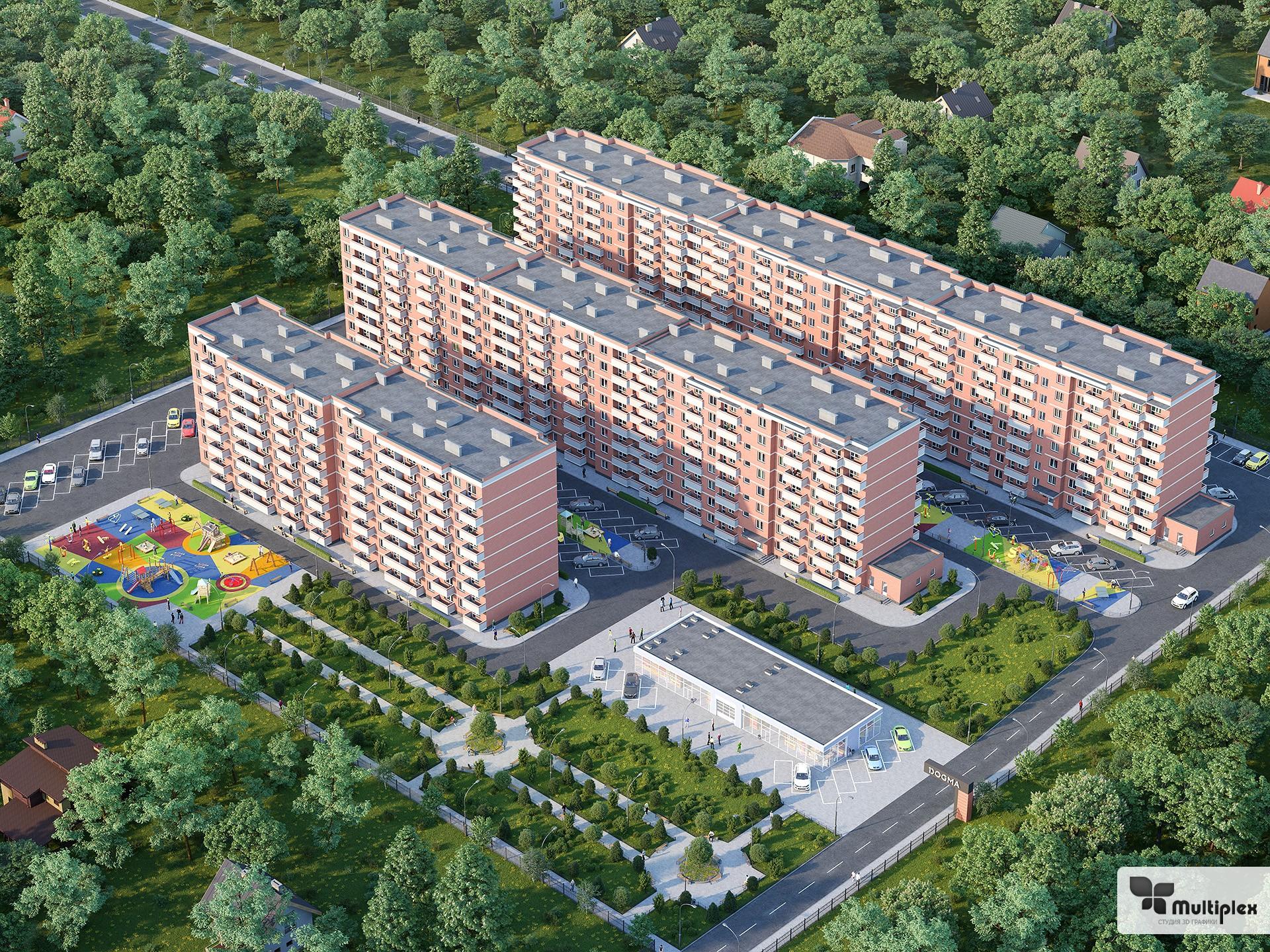 3D моделирование архитектуры жилищного комплекса