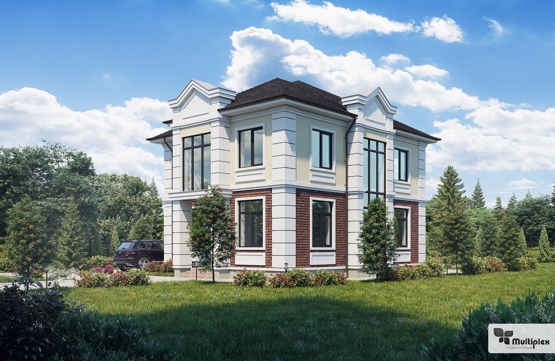 3D визуализация коттеджей и зданий