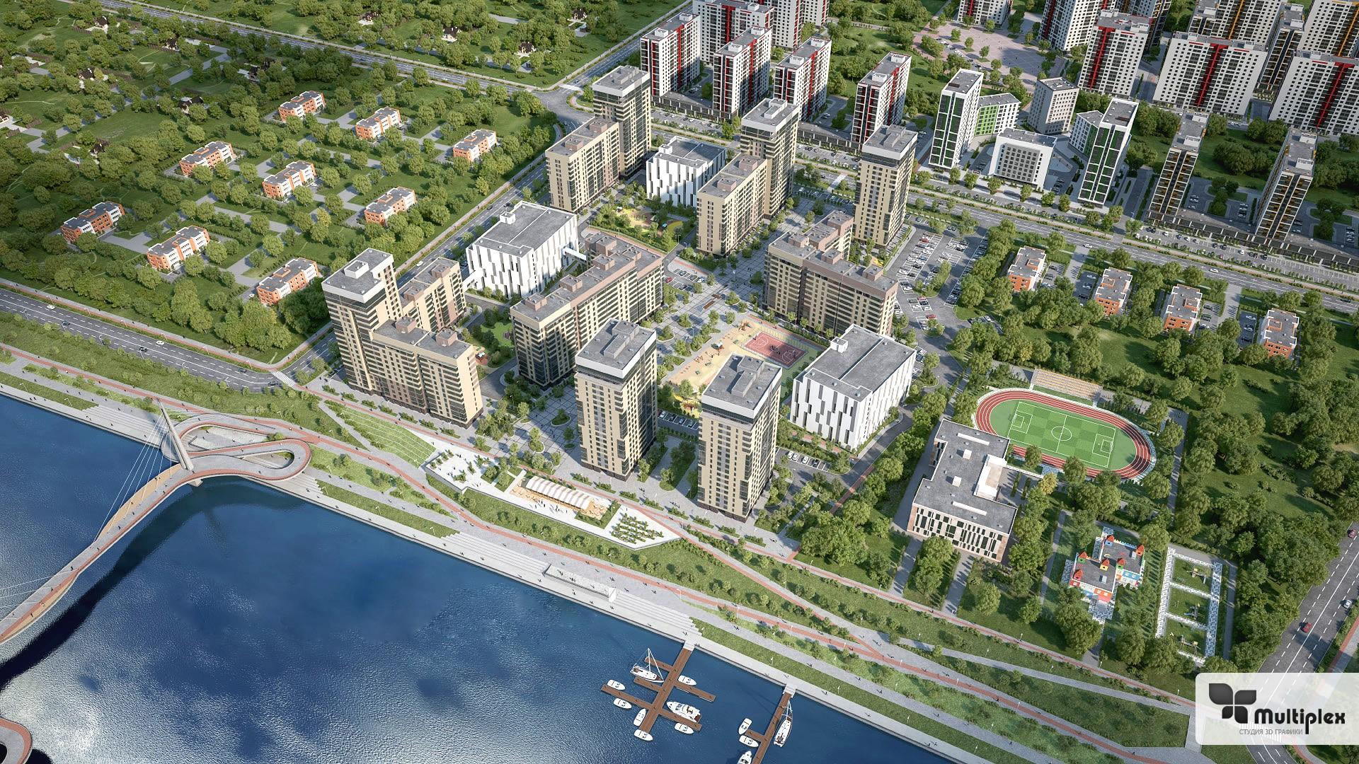 Разработка 3D визуализации жилищных комплексов и коттеджных поселков