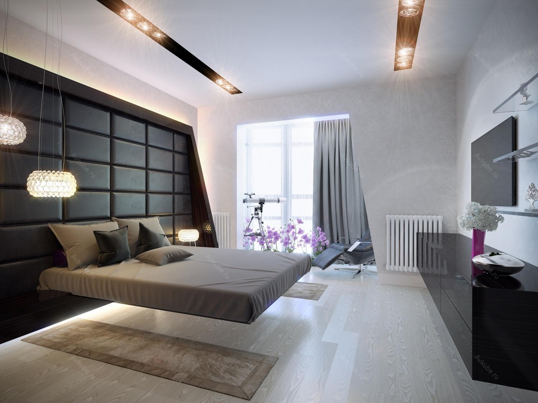 спальни хай-тек интерьер фото